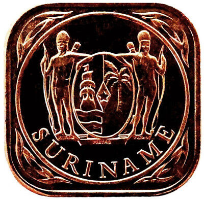 2014 Suriname 5 Cents Coin Brilliant Uncirculated RED Lot #A3078