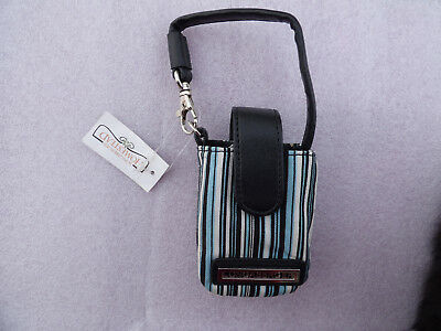 Longaberger Black Stripe Cell Phone Wristlet/ Carry Case Free Shipping