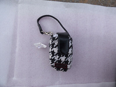 Longaberger Black Houndstooth Cell Phone Wristlet/ Carry Case Free Shipping