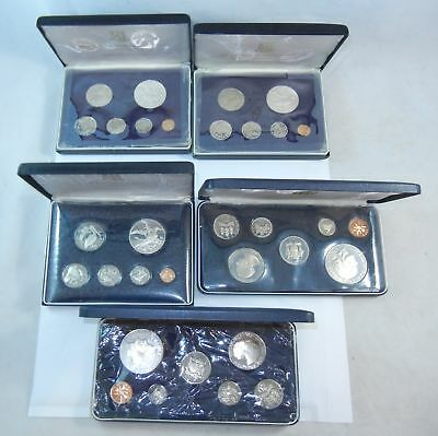 5 Sets 1972 1973 1974 Jamaica and British Virgin Islands Proof 9 Coin Set Silver