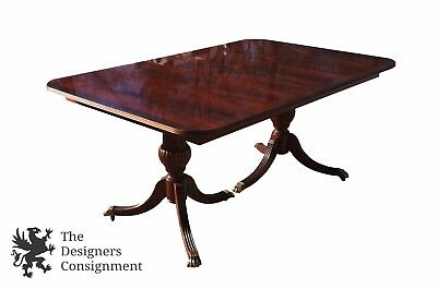 Stanley Furniture Stoneleigh Mahogany Dining Table Pedestal Sabre Leg Paw Foot