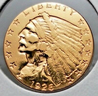 1926 $2.50 Gold Indian Head Circulated Coin