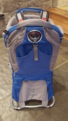 Osprey Poco Plus Child Carrier Baby Carrier Backpack - Blue/Gray Hiking No Reser