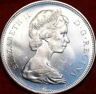 Uncirculated 1965 Silver Canada $1 Foreign Coin