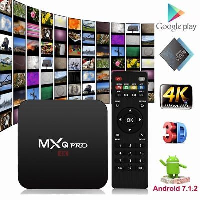 Hot MXQ PRO Android 7.1.2 Quad core S905W 4K H.265 TV BOX Media WIFI MINI PC 3D