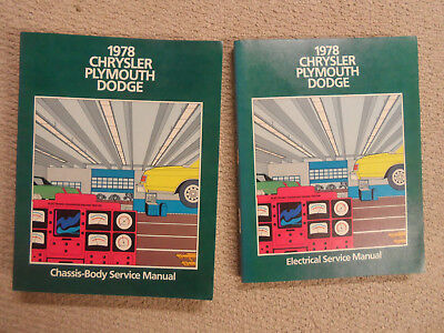 1978 Chrysler Plymouth Dodge Factory Service Repair Manuals