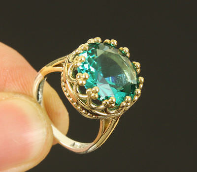 Aaa Quality Brazil Neon Blue Topaz , Sterling 925 Silver Lady Ring