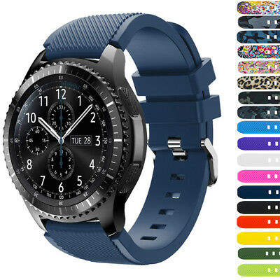 L/S Classic Silicone Soft Bands Strap For Samsung Gear S3 Frontier/Classic Lot