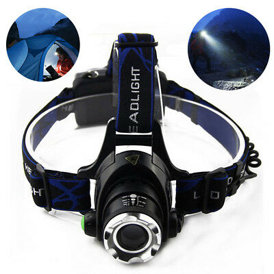3000LM XML T6 LED Zoomable Headlamp Headlight Fishing Camping Head Torch Lantern