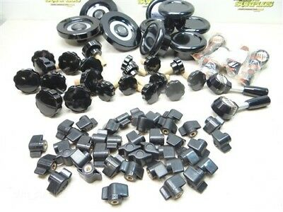 New Large Lot Of 76 Assorted Machine Handwheels, Knobs, Lever Handles