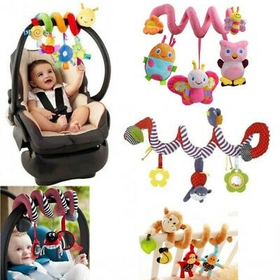 Kids Newborn Baby Crib Cot Pram Hanging Spiral Musical Animal Plush Soft Toys