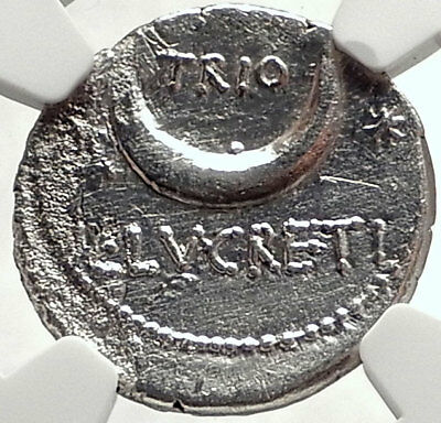 Roman Republic 76BC Sol BIG DIPPER Constellation Silver Ancient Coin NGC i68784