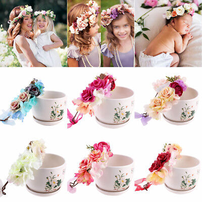 Bohemia Flower Floral Hairband Baby Kids Crown Headband Party Wedding Headwear