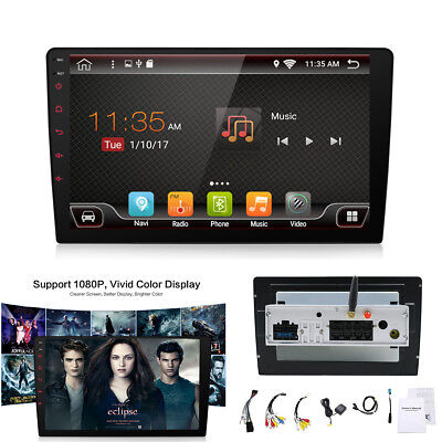 "Android 7.1 Car 1 Din 9"" Stereo Head Unit Media Player Handsfree 360° Parking"