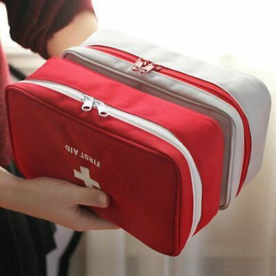 Empty First Aid Kit Pouch Office Medical Emergency Travel Rescue Case Bag