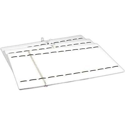 3 12 Slot White Faux Leather Bracelet Display Trays