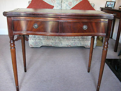 Mahogony Card/tea Table In Excellent Condition