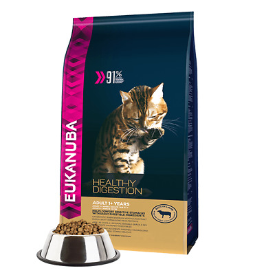 Croquettes Eukanuba pour Chat Adulte Healthy Digestion Sac 2 kg