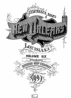 New Orleans, Louisiana~Sanborn Map©  111 maps~1909 Vol 6  put on a CD