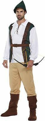 Robin Hood Fancy Dress Dressing Up Outfit Hunter Medieval Costume Adult Male NEW