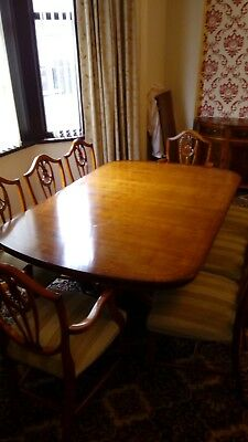 Reproduction Dining table and 8 chairs