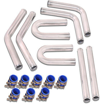 Universal Custom Kit Car Alloy Front Mount Intercooler Turbo Sport Hard Pipe Kit