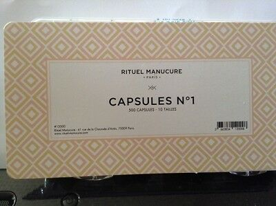 Faux ongles Rituel manucure Capsules N°1- 500 capsules 10 tailles