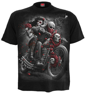 SPIRAL DIRECT DOTD BIKERS T-Shirt/Riders/Skull/Biker/Goth/Tattoo/Darkwear/Top