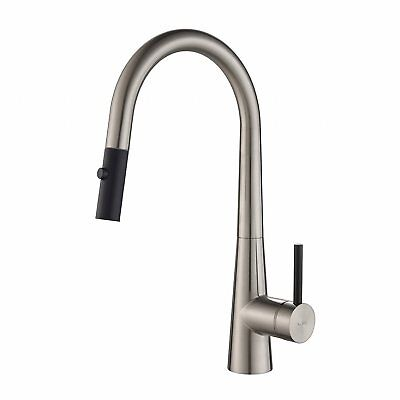 """Kraus Crespo 16.25"""" Commercial Single Handle Kitchen Faucet, Stainless Steel"""