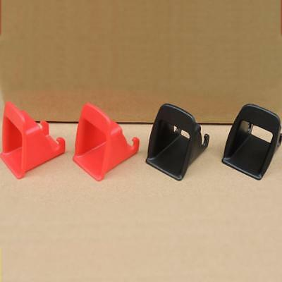 Black/Red 1 Pair Car Baby Seat ISOFIX Latch Belt Connector Plastic Guide Groove/