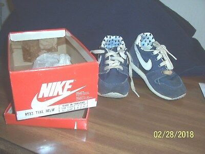 "Nike Children's Shoes Vintage 80's In Original Box, Size 6 1/2 ""tyke"" Pre-0Wned"