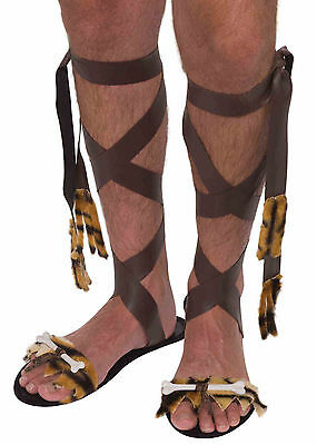 Mens Stone Age Sandals Caveman Pre Historic Costume Accessory Adult One Size