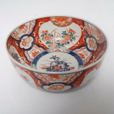 Antique Imari Porcelain Large Center/fruit Bowl, Meiji Period