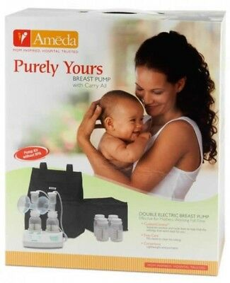 Ameda Purely Yours Double Electric Breast Pump & Carry All (Intact Factory Seal)