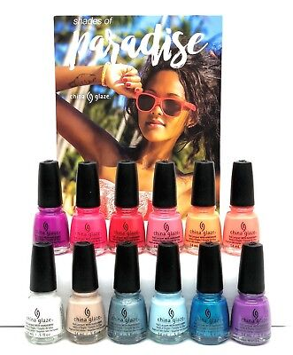 China Glaze Nail Lacquer Shades of PARADISE 2018 Collection - Choose Any Color