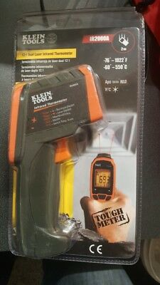 NEW KLEIN TOOLS - IR2000A - 12:1 INFRARED THERMOMETER AUTO SCAN w/ DUAL LASERS