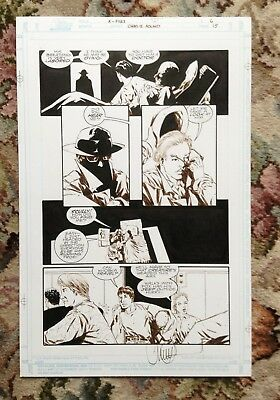 Signed Original Comic Art – Charles Adlard – X Files – Topps Comics