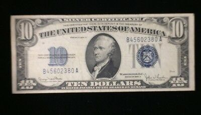 Series of 1934 D $10 Silver Certificate