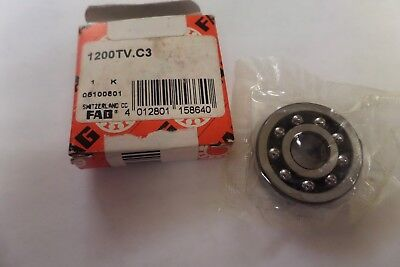 Fag Self Aligning Ball Bearing 1200TV.C3 1200TVC3 New