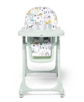 Mamas & Papas Snax Adjustable Highchair with Removable Tray Insert - Alphabet
