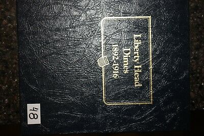 Whitman Classics Liberty Head Dimes album plus 54 different coins
