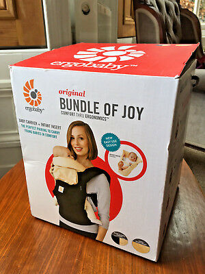 Ergobaby Original 'Bundle of Joy'- Baby Carrier with Infant Insert. Black/Camel