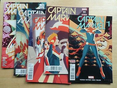 CAPTAIN MARVEL #1 - 5 (10th Series) - NEW MOVIE COMING ~ 2016