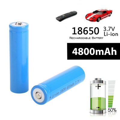 10x 18650 Battery Rechargeable 3.7v Li-ion for LED Flashlight Torch Headlamplan