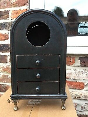 Unusual Wooden Bracket Clock Case With Drawers