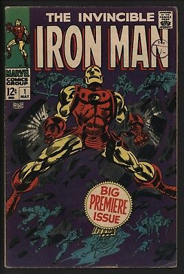 Iron Man #1 Great Cover! Very Solid With Great Page Quality From 1968 Tuska Art