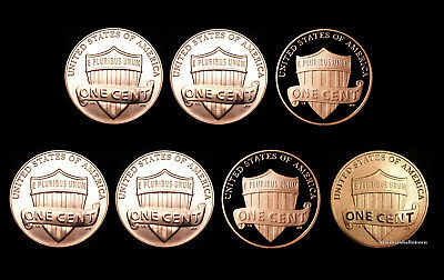 2017 2018 P+D+S+S Lincoln Shield Proof Coins and the Enhanced Cent Mint Set
