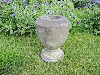 Small Antique Marble Stone  Garden Urn  30 cm high  (613a)
