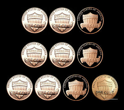 2016 2017 2018 P+D+S+S Lincoln Shield Penny Set and the Enhanced Cent Mint Set