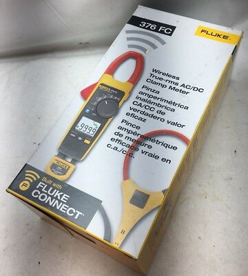 Brand New Fluke 376 Fc Wireless True Rms Ac/dc Clamp Meter With Fluke Connect
